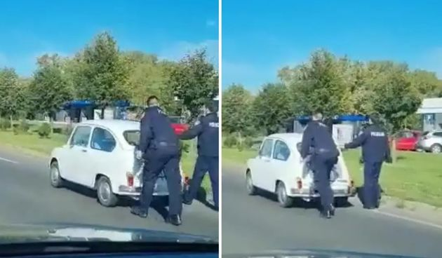 Policajci guraju Fiću