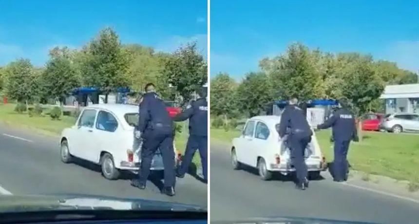 MUP je pohvalio policajce koji su gurali Fiću nakon što je zapeo na cesti: 'Uporaba sile bez primjedbi'