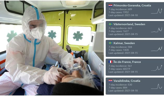 OPET SMO ŽARIŠTE Varaždinska županija peta najgora regija po incidenciji u cijeloj Europi