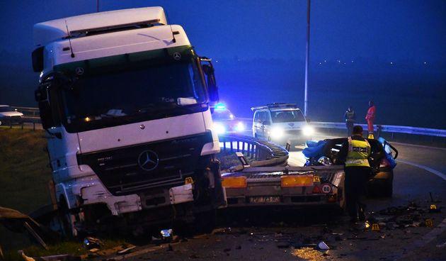Prometna nesreća, A3, Okučani
