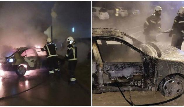 Požar automobila u Osijeku