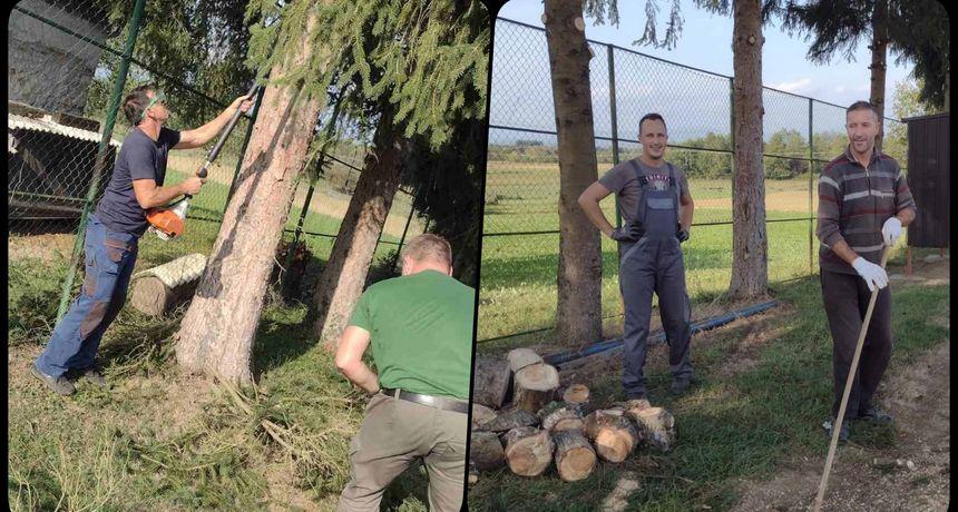 Akcija Hrvatska volontira u Malom Erjavcu: Učiteljice područne škole i mještani - roditelji djece odradili radnu akciju za dobrobit zajednice