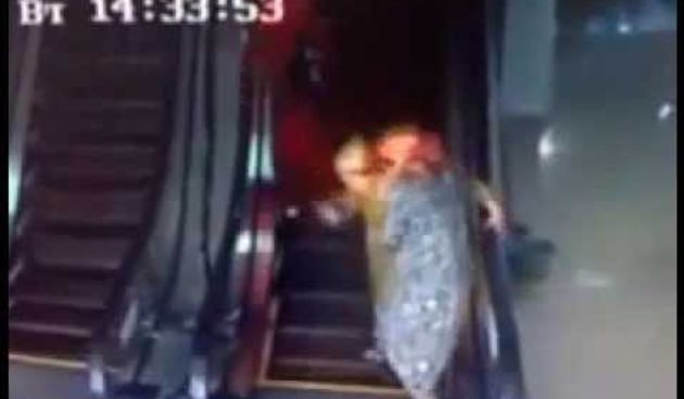 People Using The Escalator For The First Time (thumbnail)