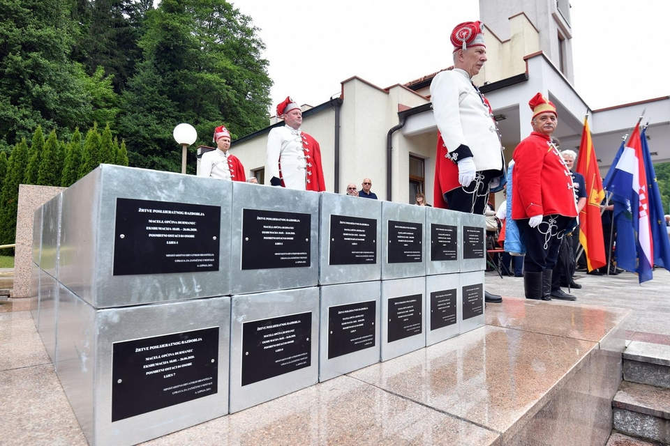 Pokopani posmrtni ostatci 84 žrtve komunističkog režima u Macelju