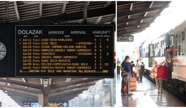vlak, hž, kašnjenje vlaka, željeznica, glavni kolodvor