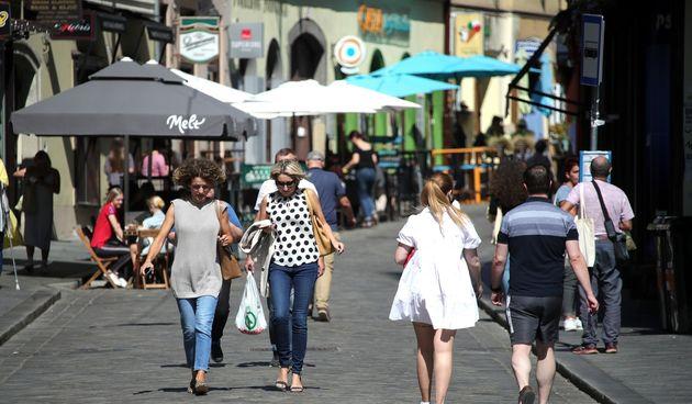 Suncano poslijepodne u sredistu Zagreba