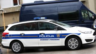 Policija, policijski auto, ilustracija