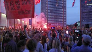 Nasilni prosvjedi u Ljubljani