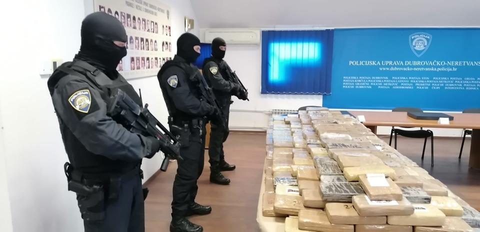 Zapljena kokaina u Dubrovniku