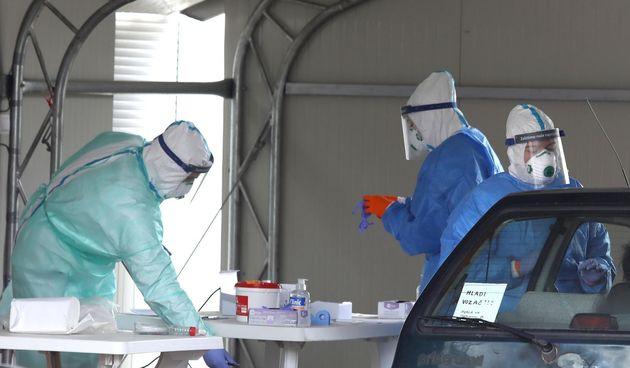 Koronavirus ilustracija, maska, test, testiranje, testiranja, covid