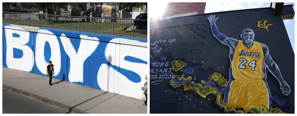 Posvete sportu i sportašima: Pogledajte kako izgledaju prvi mural u Hrvatskoj posvećen Kobeu Bryantu i novi BBB mural
