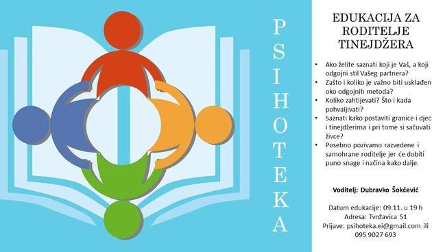 Psihoteka Osijek: Edukacija za roditelje tinejdžera
