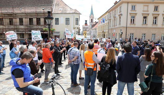 Prosvjed Udruge Glas poduzetnika u Zagrebu