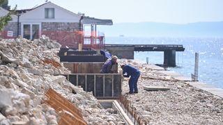 Tijek radova na rekonstrukciji plaža Diklo i Kolovare