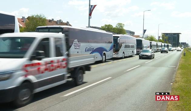 Prosvjed povremenih prijevoznika