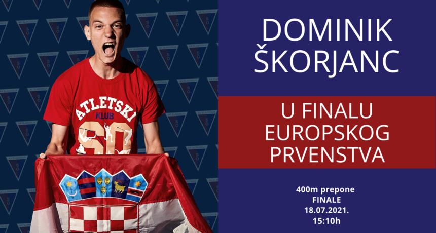 Osječanin Dominik Škorjanc u finalu Europskog prvenstva u atletici