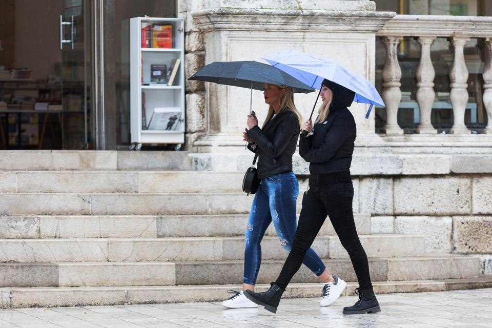 Kišno jutro u Zadru, 3. travnja 2021.