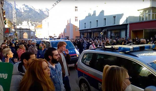 protest Innsbruck, 20.02.2021.