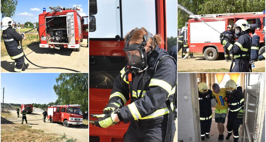 FOTO Zlu ne trebalo: Vatrogasci DVD-a Vratišinec održali vatrogasnu vježbu