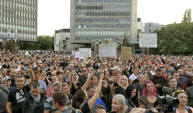 Ljubljana prosvjed