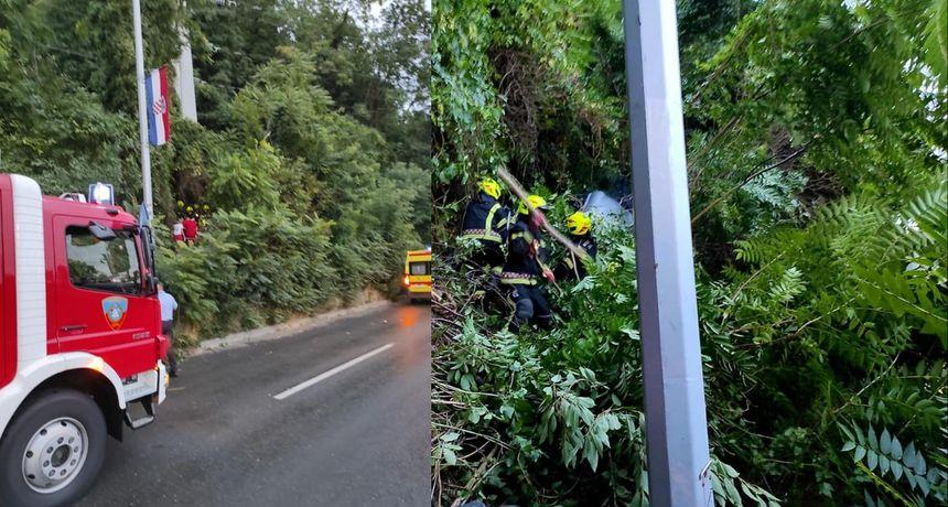 Nesvakidašnja prometna nesreća: Sletio je s ceste i završio među drvećem!