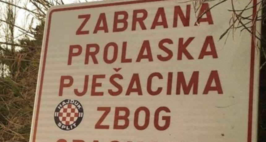 """""""Preplivat ćemo"""": Ovaj preuređeni natpis u Splitu će vas nasmijati do suza"""