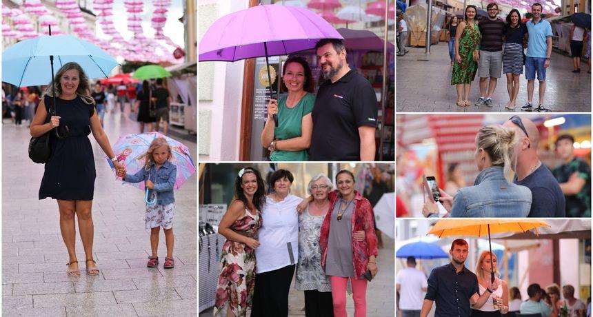 KLIKOM ISPOD KIŠOBRANA Malo kiše, malo sunca, ali centar Čakovca je ispunjen građanima