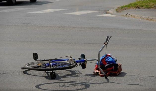 Nesreća bicikl ilustracija