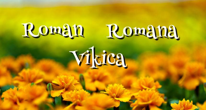 DANAS JE NJIHOV DAN Imendan slave osobe imena Roman, Romana, Vikica