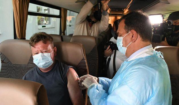 Covid autobus, cijepljenje