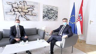 Plenković ugostio potpredsjednika Europske komisije za gospodarstvo Dombrovskisa