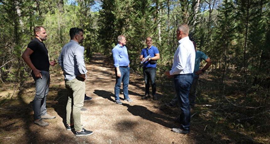 Zadar dobiva svoju novu uređenu zelenu oazu, gradonačelnik Dukić obišao radove u šumi Musapstan