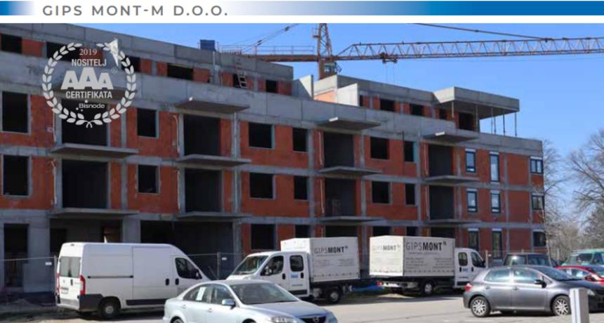 GIPSMONT-M d.o.o.  zapošljava montere suhe gradnje