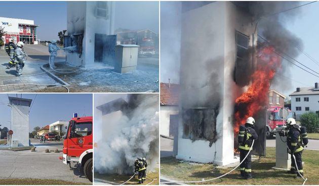 Požar trafostanice u Maloj Subotici