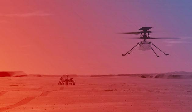 Ilustracija polijetanja helikoptera