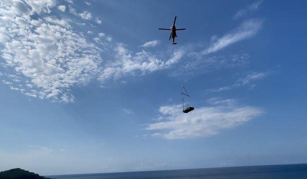 Nevera, prijevoz helikopterom u Dubrovniku