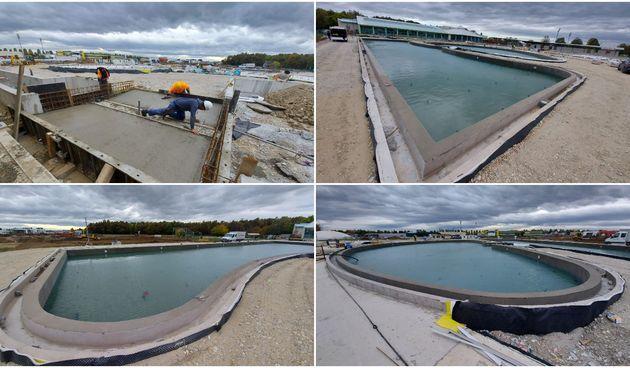 ČAKOVEC Napreduju radovi na vanjskim bazenima, u velikom bazenu testira se nepropusnost sustava hidroizolacije