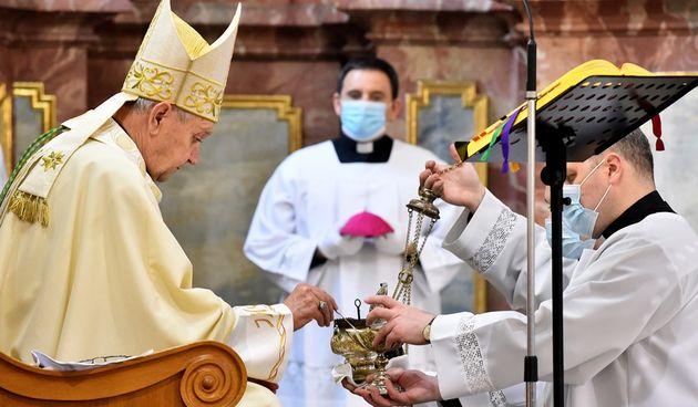 Misa na Uskrs u varaždinskoj katedrali, 4. travnja