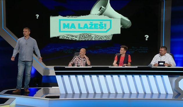 Denis Kralj gradonačelnik Vrbovca u emisiji 'Ma lažeš' sa Lukom Bulićem Milom Kekinom i Tomislavom Špičekom