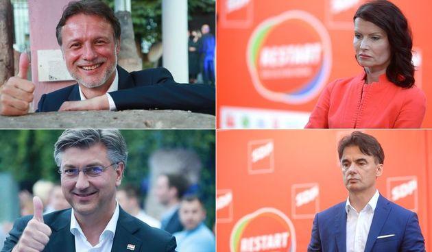 Prebrojeni gotovo svi glasovi: HDZ-u 66 mandata, Restartu 41, Domovinskom pokretu 16...