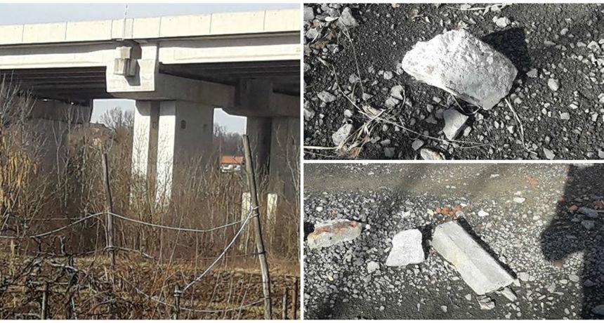 FOTO S vijadukta na autocesti padaju gromade betona: 'Tu svakog dana prolaze djeca...'