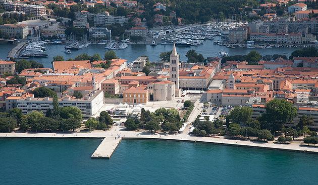 Grad Zadar iz zraka, foto: Leo Banić