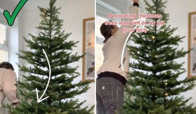 Ova TikTokerica tvrdi da je ovo najbolja metoda za stavljanje lampica na bor
