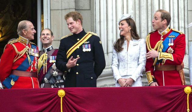 Princ Philip, princ William, princ Harry, Kate Middleton