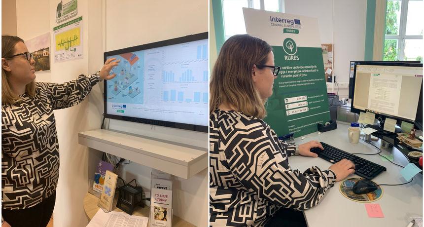 U ZGRADI REDEA-E Postavljen digitalno vizualni info panel o energetskoj potrošnji