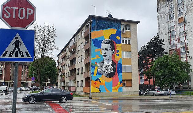 Mural Nikole Tesle 7. svibnja 2021.