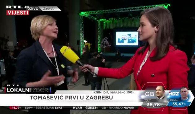 Članica stranke Možemo! Sandra Benčić komentirala je prolazak Tomaševića u drugi krug (thumbnail)