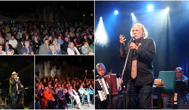 Koncert Rade Šerbedžije i Zapadnog kolodvora na Trgu Republike u Čakovcu