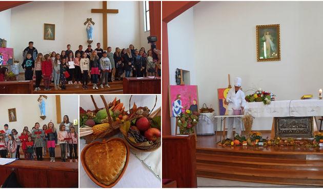 Zahvala Bogu za plodove zemlje u Kuršancu: Svečanost obogatile udruga Krašovec i OŠ Kuršanec