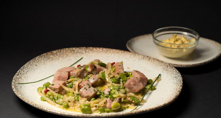 Recept za 5: Tuna sa zelenim bobom, graškom i pogačom s maslinama